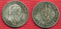 5 Mark Silber 1888 Hessen Hessen 5 Mark 1888, Ludwig IV. J. 69, sehr sc... 1599,00 EUR