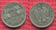 Bundesrepublik Deutschland 2 DM 2 DM 1951 D, Weintraube hren J. 386, Cu/Ni vorzglich  nicht gereinigt