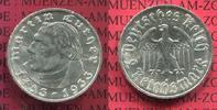 III. Reich 2 Reichsmark III. Reich 2 Reichsmark 1933 A, 450. Geburtstag von Martin Luther, Jäger 352