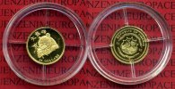Liberia 25 Dollars Goldmnze 0,7 g 2003 Po...