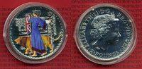 England Großbritannien UK 2 Pfund, Pounds Britannia England 2 Pounds Britannia 2001 Farbmünze prfr. 1 Unze Silber in Kapsel