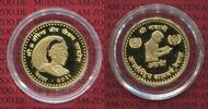 Nepal 10 Gramm Asarfi Nepal 10 g Asarfi 0.900 Gold Jahr des Kindes Year of the Child UNICEF