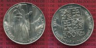Tschechoslowakei 500 Kronen Silber 1992 St...
