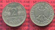 Bundesrepublik Deutschland 2 DM 2 DM 1951 F, Weintraube hren J. 386, Cu/Ni