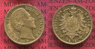 Bayern, German Empire Kingdom of Bavaria 20 Mark Goldmünze Kursmünze Bayern 20 Mark Gold 1872 König Ludwig II.J. 194,