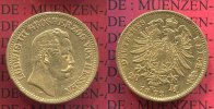 Hessen, German Empire  20 Mark Goldmünze Kursmünze Hessen 20 Mark Gold 1873 Ludwig III.  J. 214