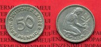 Bundesrepublik Deutschland 50 Pfennig Bank Deutscher Lnder 1950 G 50 Pfennig 1950 G Bank Deutscher Lnder J. 379