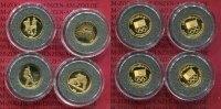 Afghanistan Medaillenausgaben NOC 4 x 1/25 Unze Afghanistan 4 x 1/25 Unze Gold 2006 Olympisches Kommitee Sportarten Selten !