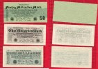 Inflation Dt. Reich 1919 - 1924 Lot 1, 5, 50 Milliarden Mark Inflation Dt. Reich Lot, 1, 5 und 50 Milliarden Mark 1923
