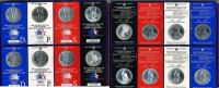 USA 8 x 1 Dollar Silber  1983 & 1984 Stgl ...