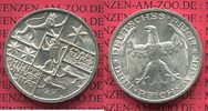 Weimarer Republik Deutsches Reich 3 Mark Silber Gedenkm&uuml;nze Commemorativ... 135,00 EUR 