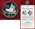 China Volksrepublik, PRC 5 Yuan Silber Ged...