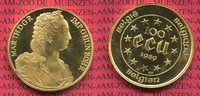 100 Ecu Gold 1 Unze 1989 Belgien, Belgium ...