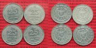 4 x 25 Pfennig  1909-1911 Kaiserreich Kleinmünze nach Jäger Kaiserreich... 55,00 EUR  zzgl. 4,20 EUR Versand