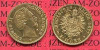 Bayern, Bavaria Kingdom, German Empire 5 Mark Goldmünze Ludwig II. Bayern 5 Mark Gold 1877 D J. 195 König Ludwig II.