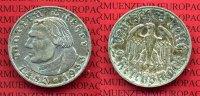 III. Reich 2 Reichsmark III. Reich 2 Reichsmark 1933 A, 450.. Geburtstag von Martin Luther J. 352