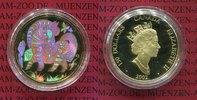 150 Dollars Goldmünze mit Hologramm 2002 K...