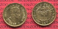 5 Pesos Gold Kursmünze 1925 Kolumbien Columbia Kolumbien 5 Pesos Goldmü... 390,00 EUR kostenloser Versand