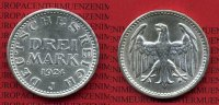 Weimarer Republik Deutsches Reich 3 Mark Silbermünze Weimarer Republik 3 Mark Kursmünze 1924 J Silber