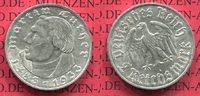 III. Reich 1933-1945 2 Reichsmark III. Reich 2 Reichsmark 1933 A, 450. Geburtstag von Martin Luther, Jäger 352