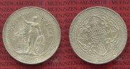 England, Großbritannien, UK, Hong Kong Trade Dollar Silbermünze 1 Trade Dollar Silber Hong Kong Silber 1901