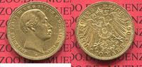 10 Mark Goldmünze 1890 A Mecklenburg Schwerin Germany Friedrich Franz I... 1350,00 EUR kostenloser Versand