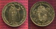 100 Kronen Gold Offizielle NP ohne Zeich 1...