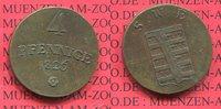 4 Pfennige 1826 Sachsen Weimar Eisenach Großherzogtum Kleinmünze nice t... 60,00 EUR  zzgl. 4,20 EUR Versand