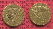 5 Dollars Dollar Half eagle 1913 USA India...