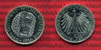 Bundesrepublik Deutschland, Germany FRG 5 DM Gedenkmünze Commemorative Coin 5 DM 1966 D Gottfried Wilhelm Leibniz  PP