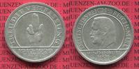 Weimarer Republik Deutsches Reich 5 Mark Weimarer Republik 5 Mark Verfassung Schwurhand 1929 A  Silber