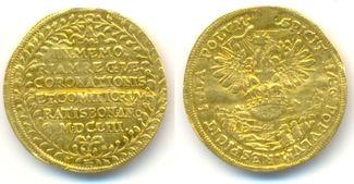 Dukat auf die Krönung Ferdinands IV. 1653 ...