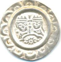 Brakteat  DONAUWÖRTH Kaiser Heinrich IV., 1190 - 1197.  Sehr attraktives Exemplar auf vollem Schrötling, gutes vz