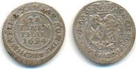 1/24 Taler 1694 IK Sachsen: Johann Georg IV, 1691-1694: ss  22,00 EUR  zzgl. 2,50 EUR Versand