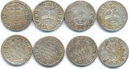 Lot 4 x 1/2 Batzen zu 2 Kreuzer 1626,28,29,32 Bayern: Maximilian I, 162... 60,00 EUR  zzgl. 2,50 EUR Versand