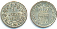 1 Kreuzer 1871 Bayern: Ludwig II, 1864-86: stfr, hübsche Erhaltung !  15,00 EUR  zzgl. 1,00 EUR Versand