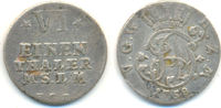 1/6 Taler Münzstätte  Neustrelitz 1758 HCB Mecklenburg Strelitz: Adolf ... 30,00 EUR  zzgl. 2,50 EUR Versand