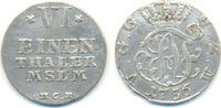 1/6 Taler Münzstätte  Neustrelitz 1756 HCB Mecklenburg Strelitz: Adolf ... 30,00 EUR  zzgl. 2,50 EUR Versand