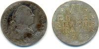 1/6 Taler Kriegsprägung 1758 Württemberg: Karl Eugen, 1744-1793: ss  150,00 EUR  zzgl. 4,00 EUR Versand