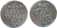 1/6 Taler Kriegsprägung 1757 Trier Bistum: Johann Philipp, 1756-1758: ss  70,00 EUR  zzgl. 2,50 EUR Versand