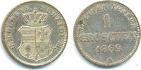 1 Groschen 1869 B Oldenburg: Nicolaus Friedrich Peter, 1853-1900: vz-st  25,00 EUR  zzgl. 2,50 EUR Versand