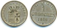 1 Groschen 1858 B Oldenburg: Nicolaus Friedrich Peter, 1853-1900: vz  20,00 EUR  zzgl. 1,00 EUR Versand