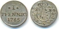 1 Pfennig 1765 C Sachsen: Friedrich August III, 1763-1806: vz-st, hübsc... 20,00 EUR  zzgl. 1,00 EUR Versand