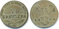 6 Kreuzer 1804 H Österreich: Günzburg: Franz II ( I. ), 1792-1835: vz-s... 50,00 EUR  zzgl. 2,50 EUR Versand