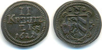 2 Kreuzer mit Gegenstempel Stadtschild 1622 Nürnberg Stadt:  ss-vz  100,00 EUR  zzgl. 2,50 EUR Versand