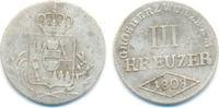 3 Kreuzer 1808 Würzburg Großherzogtum: Ferdinand von Österreich, 1806-1... 20,00 EUR  zzgl. 1,00 EUR Versand