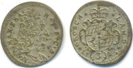 3 Kreuzer 1725 Bayern: Maximilian II. Emanuel, 1679-1726: ss+  20,00 EUR  zzgl. 1,00 EUR Versand