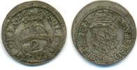1/2 Batzen zu 2 Kreuzer 1665 Bayern: Ferdinand Maria, 1651-1679: ss, se... 150,00 EUR  zzgl. 4,00 EUR Versand