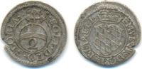 1/2 Batzen zu 2 Kreuzer 1665 Bayern: Ferdinand Maria, 1651-1679: ss,kl.... 135,00 EUR  zzgl. 4,00 EUR Versand