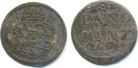 Landmünze zu 2 1/2 Kreuzer 1680 Bayern: Max. II. Emanuel, 1679-1726: ss  20,00 EUR  zzgl. 1,00 EUR Versand